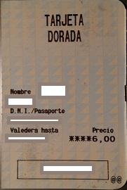 Solicitar tarjeta dorada RENFE